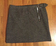 357813842c Tommy Hilfiger Women's Lined Tweed Skirt Black White Checked Size 8