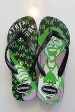 HAVAIANAS The Joker Black green purple Flip Flops Sz 7/8 US batman