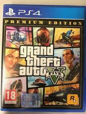 SONY PLAYSTATION 4 PS4 GTA 5 GRAND THEFT AUTO V PREMIUM EDITION PAL ITALIANO  ☆