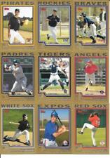 2004 Topps Traded Gold Parallel Insert Set Lot of (23) Different See List & Scan