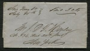Ices Ferry Virginia manuscript stampless cover 1853