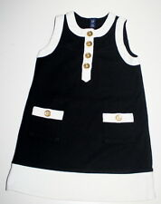 BABY GAP White Black Retro Mod Jumper Dress Girl Size 4 Super Cute!
