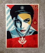 Oil Lotus Woman Shepard Fairey Signed Art Print Poster Obey Giant Rare Limited