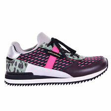 DOLCE & GABBANA Leopard Leather Sneakers Trainer Shoes NIGERIA Purple Pink 07274