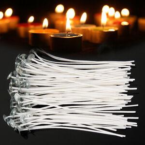 100 Kerzendochte, Docht 15cm gewachst und mit Fuß. Mögen Kerzen selbst gestalten