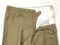 "Zanella ""Bennett"" Khaki Men's Front Pleat 100% Wool Dress Pants Size 36 x 29"