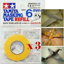 Tamiya 87033 Masking Tape Refill 6mm for Paint Model RC Car Plane Craft (3pc)