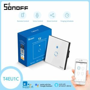 NEW SONOFF T4EU1C Smart Home Wall Switch Only Live Wire Require Wireless Control