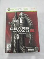 Gears of War 2 Limited Edition Xbox 360 CIB Complete Game W/ Steel Book 2 Discs