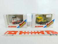 BV948-0,5# 2x Albedo H0/1:87 Renntruck: 600113 Volvo + 600120 MAN, NEUW+OVP