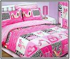 Beauty Zebra Leopard Pink White Black Double Quilt Doona Cover +2 Pillowcase Set