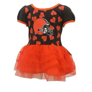 Cleveland Browns Official NFL Apparel Baby Infant Size Dress with Skirt New Tags