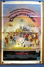 Vintage 1973 Original CHARLOTTE'S WEB Film 1-Sheet Movie Poster 27x41 1-Sided