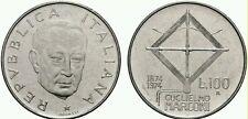 ITALIA REPUBBLICA 100 Lire 1974 Commemorativa Guglielmo Marconi