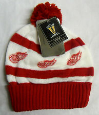 NHL Detroit Red Wings CCM Vintage Hockey Pom Cuffed Winter Knit Hat Beanie Cap