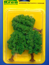 Alberi da giardino per modellismo verde chiaro 3 pz. H.cm. 9  HO - 1/87 Krea