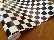 DC 200-2565 Black & White Large Check Flag Contact 45cm x 2.5m German Made