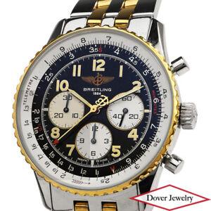 BREITLING Navitimer 92 Steel 18K Gold Automatic Men's Watch NR BOX
