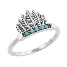 40% SALE! - Genuine Midsummer Star SS Feather Headdress w/Turq Ring - RRP $59.95