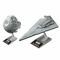 Star Wars Model Kit Death Star II & Star Destroyer Bandai From Japan New