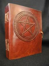 Small Handmade Leather Diary Journal - Pagan Wicca Book of Shadows - PENTACLE