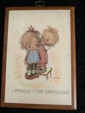 Vintage Betsey Clark Haircut Kindness Long Remembered Plaque Springbok Hallmark