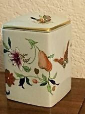 RETIRED VISTA ALEGRE ~ PORTUGAL PORCELAIN SAMATRA BUTTERFLY Lidded Container Box
