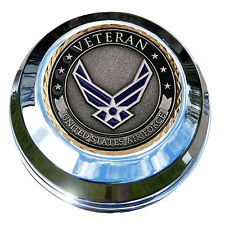 MotorDog69 Air Force Veteran Indian Gas Cap Coin Mount