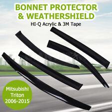 Mitsubishi Triton 2006-2015 MN ML Bonnet Protector + Weathershield Window Visor