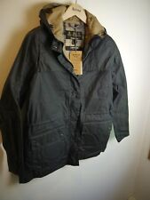 Barbour Ladies Lightweight Wax Durham Jacket, Navy Blue, New With Tags, Size 10