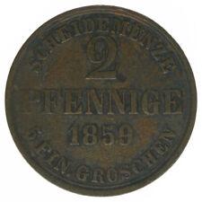Braunschweig, 2 Pfennige 1859, A41658