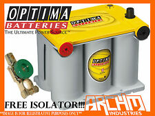 NEW OPTIMA D75/25 YELLOW TOP AGM DEEP CYCLE 12V BATTERY