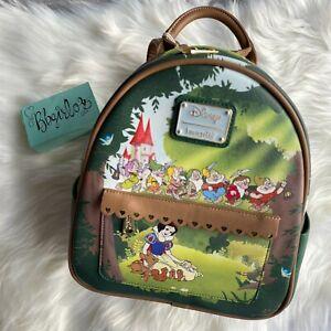 LOUNGEFLY NWT Disney Snow White Scene Mini Backpack Truffle Shuffle Euro EXCL