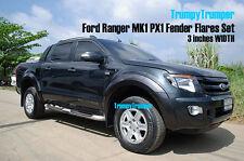 K FOR FORD RANGER PX XLT XL WILDTRAK T6 FENDER FLARES WHEEL ARCH 2012 2013 2014