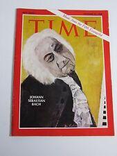 Time Magazine- December 27, 1968- Johann Sebastian Bach