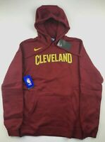 Nike Mens Medium Cleveland Cavaliers Red NBA Logo Club Sweatshirt Hoodie NWT