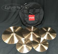 "Paiste 2002 Black Label Big Beat 5 Piece Cymbal Set w/ FREE 18"" & Paiste Bag"