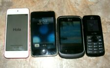 Lot of 4 Cell Phones Apple ipods: i Pod 6 A1574 (Locked), i Pod 2nd Gen, LG305C