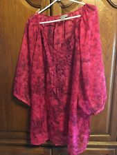 Maggie Barnes / Catherines Blouse 3X NEW w/Tags - Rich Bold Color & Embellished