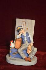 "Norman Rockwell Figurine by Danbury Asleep On The Job -1980's 6.5"" tall Mint"
