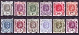 Mauritius 1938 SC 211-222 MH Set