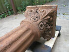 ~ ANTIQUE CAST IRON COLUMN WITH ORNATE CAPITAL ~ 118 TALL ARCHITECTURAL SALVAGE
