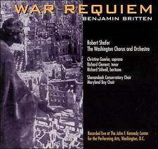 War Requiem Benjamin Britten, Robert Shafer, The Washington Chorus and Orchestr