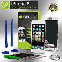 Display LCD für iPhone 8 mit RETINA Glas Scheibe Komplett Front WEISS WHITE -NEU