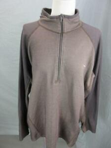 Patagonia Size XL Mens Brown Athletic Long Sleeve 1/4 Zip Pullover Shirt T740