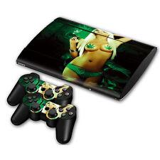 PS3 PlayStation 3 Super Slim Skin Design Aufkleber Schutzfolie - Cannabis Girl
