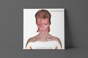 David Bowie - Aladdin Sane   Classic Album Wall Art Canvas Framed Print