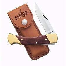 "Uncle Henry Bear Paw Knife Stainless Steel Blade & Woodgrain Handle 5"" Closed"