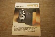 Pioneer HPM-150 Stereo Speaker Speakers Original Catalogue