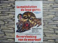 VINTAGE ORIGINAL 1973 QUAD MOVIE FILM POSTER,THE BOY WHO CRIED WEREWOLF (FRENCH)